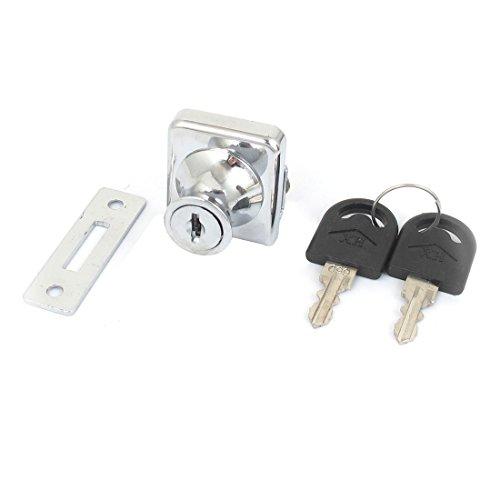 sourcingmap Drehbare für Glas Tür Vitrine Display Schrank Cabinet Lock w Schlüssel