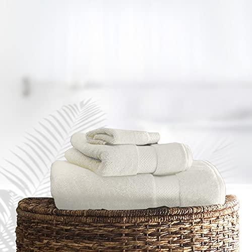 Gaveno Cavailia - Toalla de Mano (algodón Egipcio, Absorbente, 700 g/m², 4 Unidades, 50 x 85 cm), Color Crema
