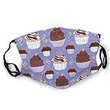 Shinyzone Ma_sk - Pasamontañas unisex de tela lavable y reutilizable, diseño de cupcakes, para adultos y deportes al aire libre