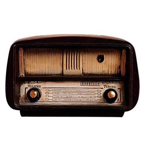 HEALLILY Modelo de Radio de Resina Vintage Adorno de exhibición de Escritorio estatuilla de Radio Antigua para decoración de Oficina