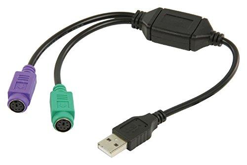 Valueline VLCB60830B03 Adaptador de Cable USB 2.0 PS2 Negro,