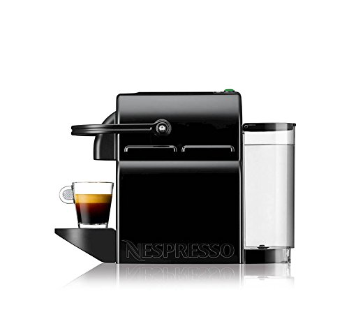 Nespresso D40-US-BK-NE Inissia Espresso Maker, Black (Discontinued Model) 2 BARISTA GRADE: Nespresso Inissia by Breville offers an impeccable single serve coffee or espresso cup every time, thanks to its automatic operation and patented extraction system which delivers up to 19 bars of pressure. The Inissia is the perfect coffee machine that fits perfectly into any interior design. FAST: Eliminate the wait time with how fast the water reaches the ideal temperature in less 25 seconds in a single touch. This automatic coffee machine gets your perfect cup of coffee or espresso to you fast. ENERGY EFFICIENT COFFEE MACHINE: Brew two different cup sizes; Espresso (1.35 oz) and Lungo (5 oz), with just the touch of a button. Pour over ice to create your favorite iced coffee drinks. With the smart energy saving mode automatically switches off our coffee maker after 9 only minutes.