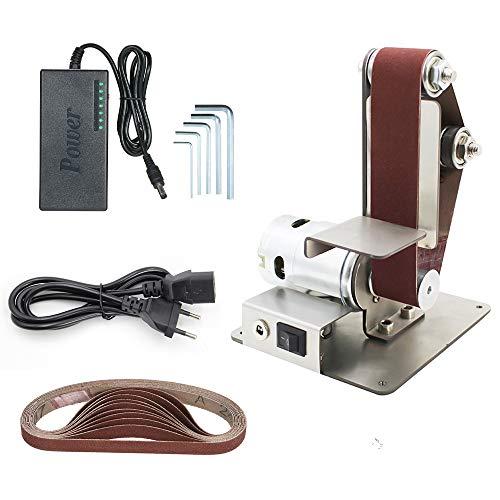 KKmoon Elektrische Bandschleifer,Vertikale Bandschleifer DIY Polierschleifmaschine Tischschleifmaschine mit festem Winkel 895-Spindelmotor