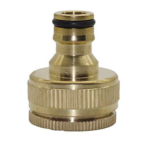 Junta roscada 3/4 '', 1' latón rosca hembra lavado conector rápido de la ametralladora del conector rápido Agricultura Agua de conector 1 Pc (Color : Green, Diameter : 3/4'')