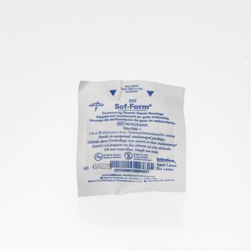 Medline NON254955Z Bandage, Gauze, Sof-Form, 1' x 75, Stroll, Lf (Pack of 12)