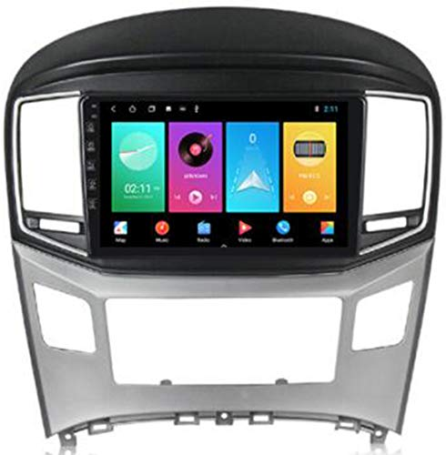 WFYZXE Android 9.0 Autoradio 2 DIN Car Stereo Coche GPS Navegacion para Hyundai H1 2017-2018 Soporte Carplay Android Auto/Multimedia FM RDS Control Volante/Hands-Free Calls,WiFi:2g+32g