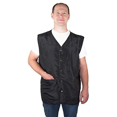 Barber Vest for Men - Barber Shirt with Pockets - Mesh Back for Ventilation - Grooming Smock for Men - Barber Jacket Men - Barber Smock Men