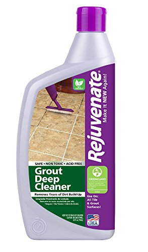 Rejuvenate Grout Deep Cleaner – Safe Non-Toxic Cleaning Formula Instantly Removes Years of Dirt Build-Up to Restore Grout to the Original Color – 24 Ounce