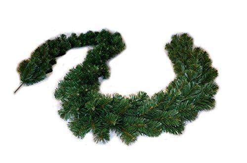 FKL Weihnachtsgirlande Dicke Tannengirlande Weihnachtsdeko Grüne Tannenzweige 300cm (280 Spitzen)