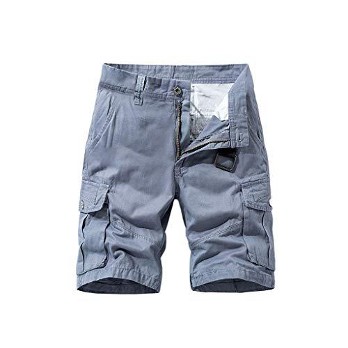 KPILP Pants Cargohose kurz Sommerhose Herren Bermuda Shorts Chino Shorts Camo Hosen Camouflage Kurz Freizeithose Vintage Sommer Hose