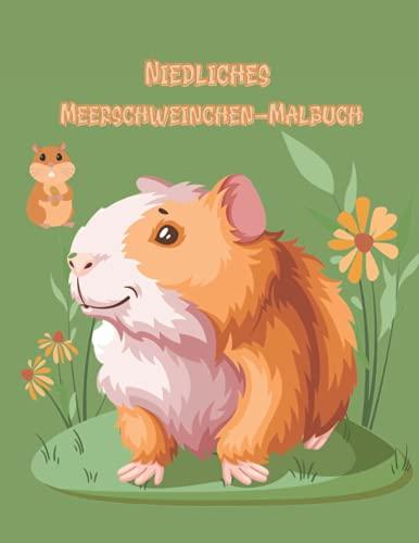 Niedliches Meerschweinchen-Malbuch: Ein kleines Meerschweinchen Malvorlagen für Kinder | Einfaches Design für entspannendes bestes Geschenk für Meerschweinchen-Liebhaber.