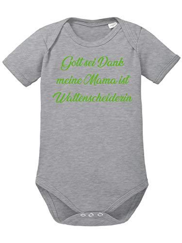 clothinx Gott sei Dank, Meine Mama ist Wattenscheiderin, Lustiges Fussballmotiv Baby Body Bio Sports Grey Gr. 86-92