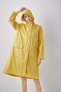 Chubasquero Impermeable con pommis Amarillo Puro para Mujer