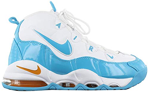Nike Herren Air Max Uptempo '95 Basketballschuhe, Mehrfarbig (White/Blue Fury/Canyon Gold 100), 42.5 EU