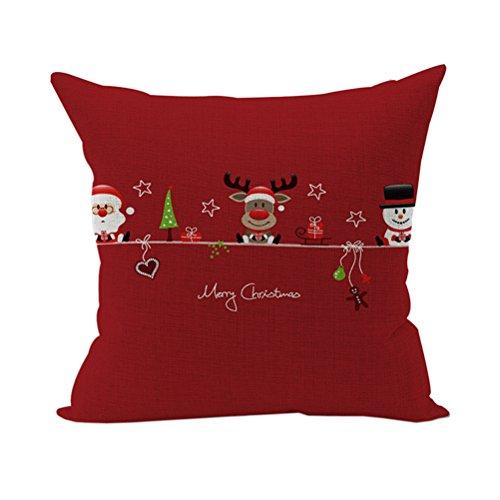 Nunubee Weihnachten Baumwolle Leinen Kissenbezug Platz Dekorative Akzente Setzen Fall Sofa Kissen Art 11