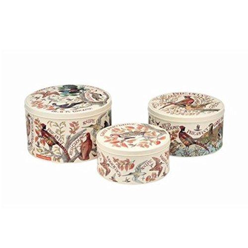 Elite tins - Game Birds - Set of 3 Round Cake Tins