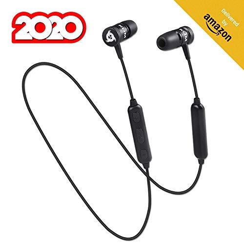 KLIM Fusion Bluetooth Kopfhörer Wireless - Hohe Audioqualität, mit Mikrofon + Haltbar + Innovativ: In-Ear Ohrstöpsel mit Memory Foam + Schnelles Koppeln + NEU 2020