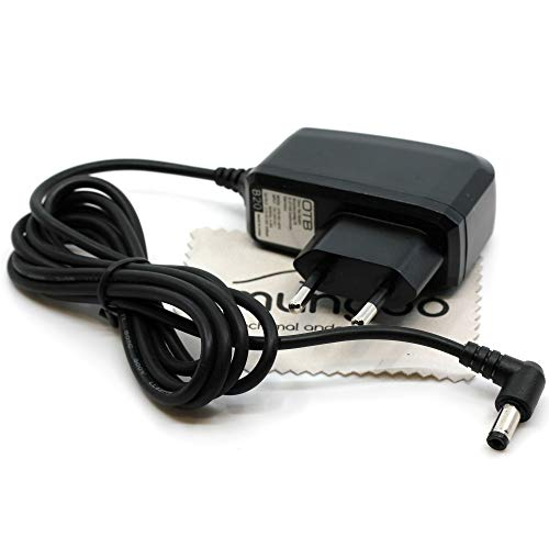 Ladegerät passend für Nintendo Super Nintendo Entertainment System, SNES, Super Famicom, Entertainment System, NES Ladekabel Kabel Netzladegerät OTB mit mungoo Displayputztuch