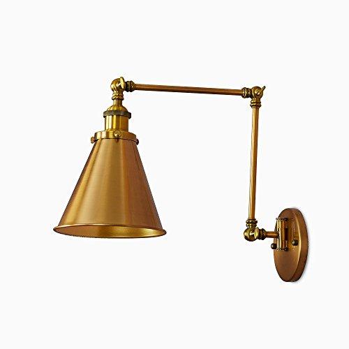 CUICAN Retro aluminium wandlamp, E27 zwenkarm industrieel metaal instelbaar wandlamp voor nachtkastje balkon wandlamp