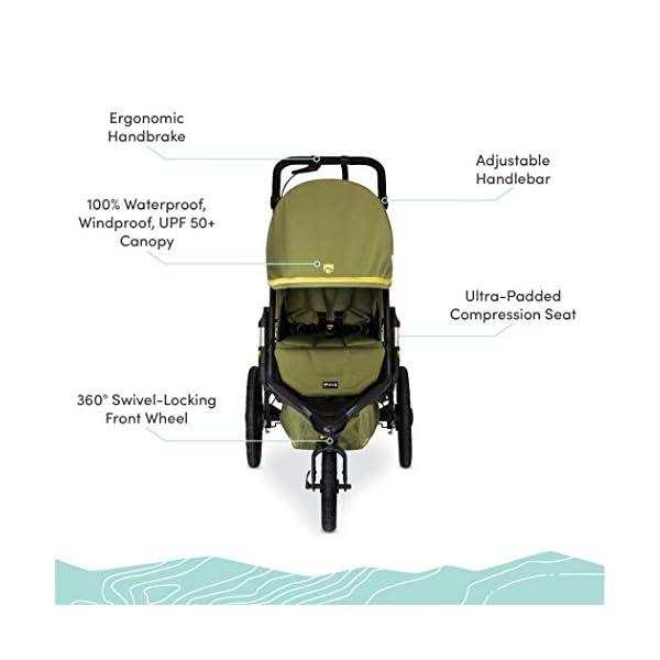 Best Jogging Baby Stroller BOB Gear Alterrain Pro , Olive