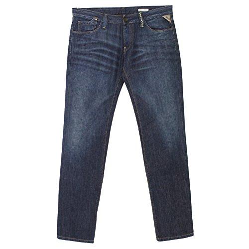 Replay, Rockxanne, Damen Jeans Hose, Denim, darkblue Used, W 30 L 32 [18308]