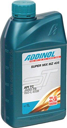 ADDINOL MZ 405 SUPER MIX,Motorenöl (rot gefärbt) 2 Takt, mineralisch, 1 L Flasche