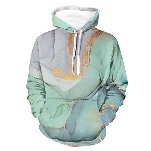 LIFOOST Sudadera con capucha para hombre, diseño marmolado, muy suave