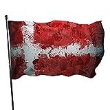 Bandera del arte de la bandera de la Orden militar de Malta Bandera de 3x5 pies, Bandera de poliéster para jardín para decoración del hogar interior al aire libre