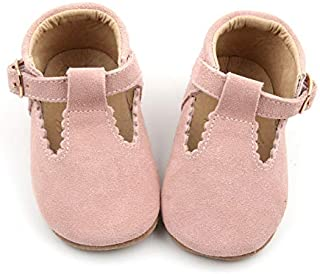 SIMABABY Elspeth –Australian Designed, Baby Toddler Child Girls First Walker Classic T-Bar Mary Jane Shoes, 100% Natural Genuine Leather, Blush.