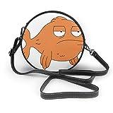 レディース ザーショルダーバッグ 斜めがけ フェイクレザー 肩掛けバッグ うっとうしい魚 トートバッグ 丸形 ミニバッグ チェーンバッグ 財布 デート ハンドバッグ 面白い 旅行
