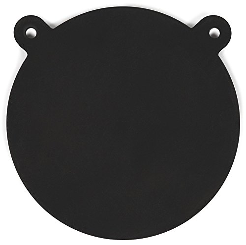 """Powerfly AR500 Gong Targets for Shooting Range 12' - AR 500 3/8"""" Laser Cut Steel Plate - Metal Round Swing Hanging Target with Mounting Holes - Suitable for Rifle Handgun Pistol Firearms"""