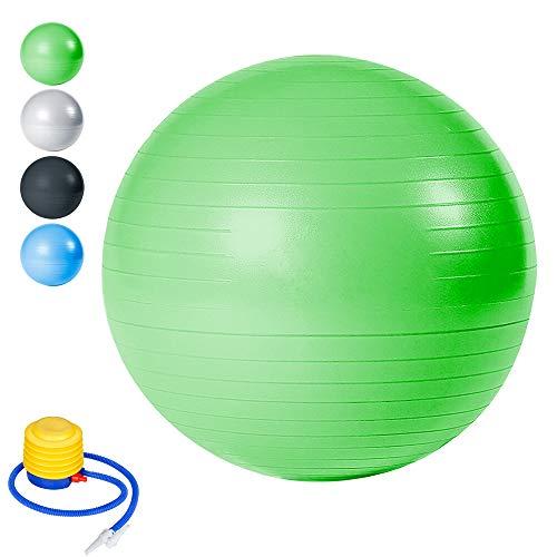wolketon Gymnastikball Balance Ball Fitness Yoga Core Beckenübungen Sitzball Maximalbelastbarkeit bis 300kg Pilates-Ball Yogaball Gym Büro