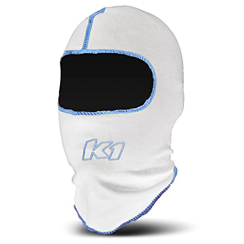 K1 Race Gear Coolmax Vented Head Sock/Balaclava (White) - 17-CHV-W