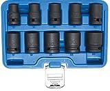 BGS 5205   Juego de llaves de vaso de impacto hexagonal   entrada 12,5 mm (1/2')   10 - 24 mm   10 piezas
