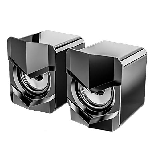 Bolange Altavoces de ordenador, con cable USB para ordenador de sobremesa, ideal para escritorio externo o altavoces de juegos para computadora portátil/monitor de computadora, enchufe de 3,5 mm