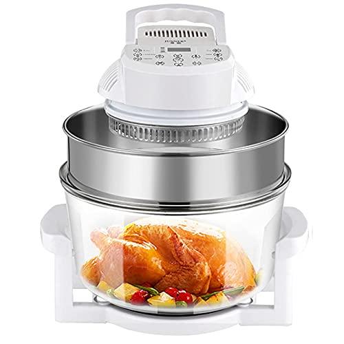 Freidora de aire WYCGD Freidoraeléctrica para horno, termostato ajustable con 6 funciones de precalentamiento, función de apagado automático, cocina saludable,1200 W, 12