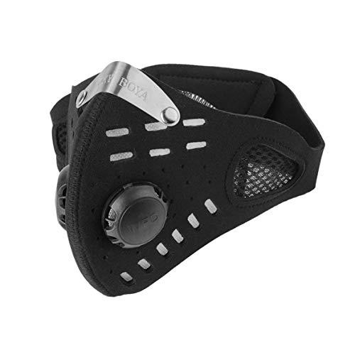 TOFOX Maschera Antipolvere Sportiva, per Ciclismo, Corsa all' Aperto, per Uomini e Donne, Maschera Antipolvere per Bicicletta Respiratore con Filtro Sostituibile