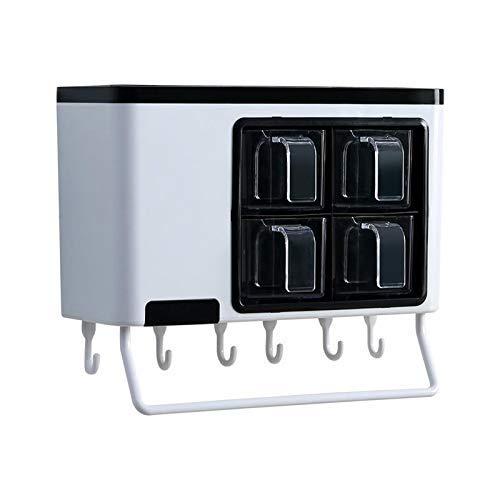 GAXQFEI Multifunktions-Gewürzregal Zur Wandmontage Rack Mit Lebensmittelqualität Vanillegewürz Gewürzglas Aufbewahrungsregal Küchenaufbewahrungsbox