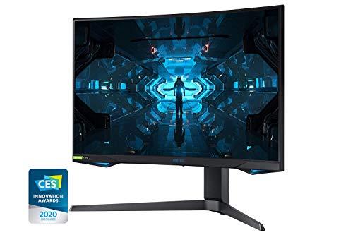 Samsung G7 (C27G73TQSU) 68,58 cm (27 Zoll) QLED Curved Odyssey Gaming Monitor (2.560 x 1.440 Pixel, 240 Hz, 1ms, 1000R, Dual Monitor geeignet, PC Monitor, AMD FreeSync, G-Sync Kompatibel) schwarz