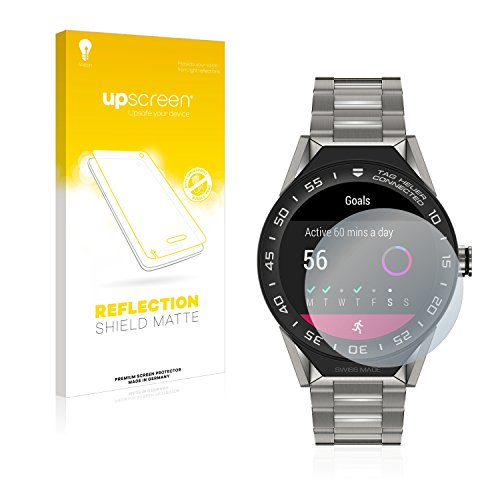 upscreen Entspiegelungs-Schutzfolie kompatibel mit Tag Heuer Connected Modular 45 – Anti-Reflex Bildschirmschutz-Folie Matt