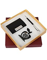 Celebr8 3 in 1 Corporate Gift Set with Apple Clock, Crystal Pen, Business Card Holder