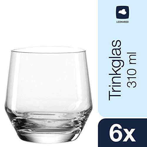Leonardo Puccini Trinkglas, 6-er Set, 310 ml, spülmaschinenfest, Teqton-Kristallglas, 069557
