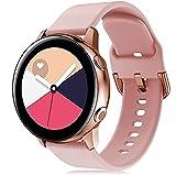 Ricambio di Cinturino di Silicone Sportivo Watch Straps Compatibile con Samsung Galaxy watch 42mm /active 2 /Gear sport S2 20mm Bracciale Galaxy watch active,Oro rosa