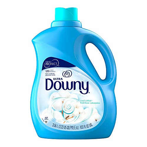 Downy Ultra Cool Cotton Liquid Fabric Conditioner, 103 Fluid Ounce