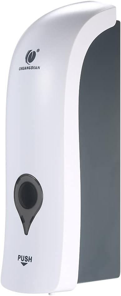 Dispensador de Jabón de Pared, Ducha, Champú, Loción, Espacio para Baño Cocina Hotel(300ml) (Blanco)