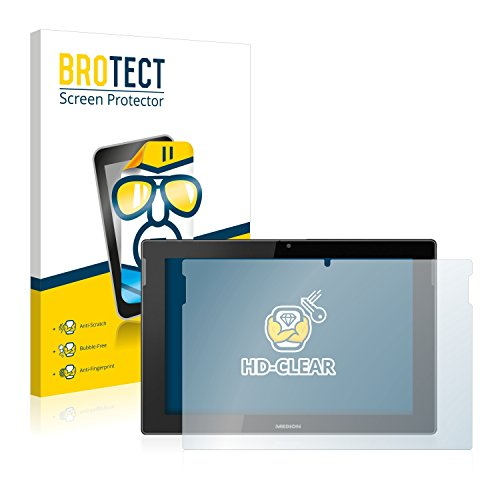 BROTECT Schutzfolie kompatibel mit Medion Lifetab S10366 (MD 99781) (2 Stück) klare Bildschirmschutz-Folie