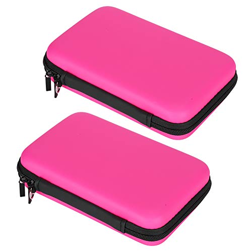 HILITAND GAME CONSOLES STORAGE BAG INTERNAL DOUBLELAYER NYLON COMPARTMENTS 3DSLL CRYSTAL CASE PROVIDE MULTIPLE PROTECTION FOR SWITCH HOST MACHINE(PINK)