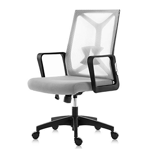 SEATZONE Mid Back Office Desk Chair Ergonomic Mesh Computer Foldable Rolling Swivel Executive Chair