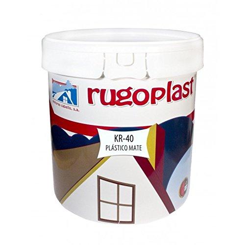 Pintura plástica blanca mate lavable de alta calidad interior exterior ideal para decorar tu casa (salón, cocina, baño, dormitorios.) KR-40 (23 Kg) Envío GRATIS 24 h.