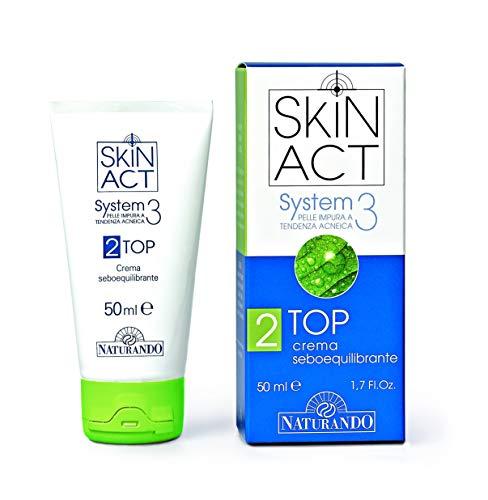 NATURANDO SKIN ACT TOP Tubo da 50 Ml- Crema seboequilibrante per pelle impura a tendenza acneica
